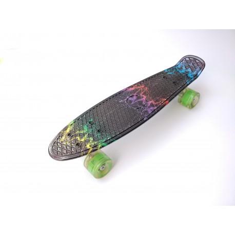 Penny board original 22'' с рисунком, со светящимися колесами