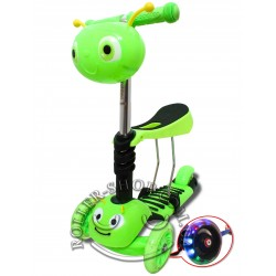 "Самокат беговел Jostle Scooter 3в1 ""Улитка"""