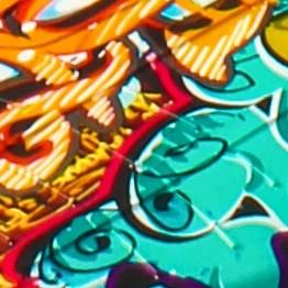 Оранжевый граффити
